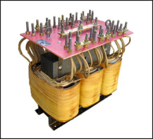 THREE PHASE MULTI TAP TRANSFORMER, 40 KVA, P/N 17695