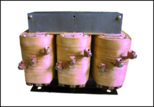 THREE PHASE BOOST TRANSFORMER, 150 KVA, INPUT 380/400/415 VAC, OUTPUT 456/480/504 VAC, P/N 17506B