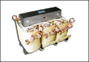 THREE PHASE BOOST TRANSFORMER, 263.5 KVA, INPUT 380/400/415 VAC, OUTPUT 456/480/504 VAC, P/N 17617
