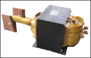 SINGLE PHASE HIGH CURRENT TRANSFORMER, 12 KVA, OUTPUT 10 VAC, 1200 AMPS, P/N 17773A