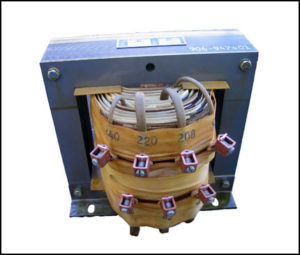 SINGLE PHASE MULTI TAP TRANSFORMER, 4.7 KVA, P/N 17940