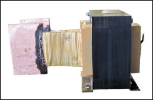 LARGE CURRENT TRANSFORMER, 4 KVA, Output: 2 VAC, 2000 AMPS, P/N 18287B
