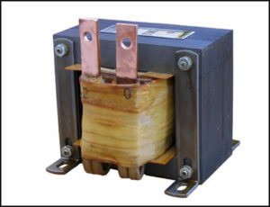 SINGLE PHASE HIGH CURRENT TRANSFORMER, 0.25 KVA, OUTPUT 2 VAC, 125 AMPS, P/N 18309B