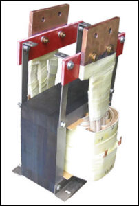 SINGLE PHASE HIGH CURRENT TRANSFORMER, 4 KVA, OUTPUT 5 VAC, 800 AMPS, P/N 18433