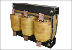 THREE PHASE HIGH CURRENT TRANSFORMER, 73 KVA, OUTPUT 42 VAC, 1000 AMPS, P/N 18457A