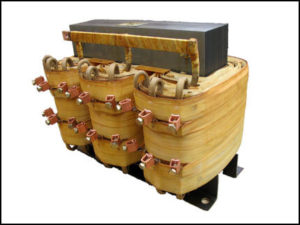 THREE PHASE MULTI TAP TRANSFORMER, 40 KVA, P/N 18512