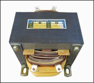 Isolation Transformer, 0.35 KVA, 1 PH, 50 Hz, Primary: 480 VAC, Secondary: 120 VAC, P/N 18534A1-1