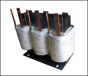 Three Phase Gap Inductor, 320 uH, 100 A, 3 PH, P/N 18544L