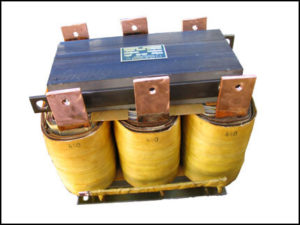 THREE PHASE BUCK TRANSFORMERS, 305 KVA, INPUT 460 VAC, OUTPUT 440 VAC, P/N 18546