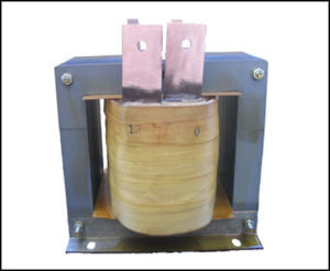 SINGLE PHASE HIGH CURRENT TRANSFORMER, 5 KVA, OUTPUT 12 VAC, 416 AMPS, P/N 18547