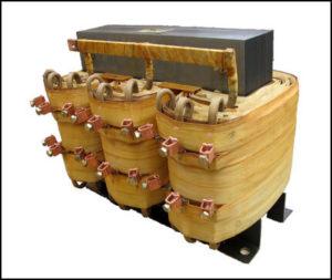Secondary Tap Transformer, 40 KVA, Input: 460 VAC, Output: 141/162/183/204/235 VAC, P/N 18561