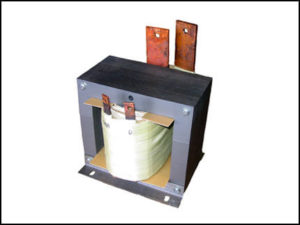 SINGLE PHASE HIGH CURRENT TRANSFORMER, 2 KVA, OUTPUT 5 VAC, 400 AMPS, P/N 18570