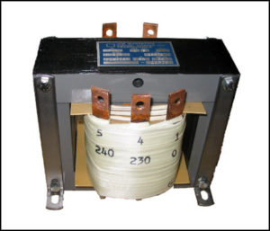 SINGLE PHASE BOOST TRANSFORMER, 5.5 KVA, INPUT 208 VAC, OUTPUT 220/230/240, P/N 18571