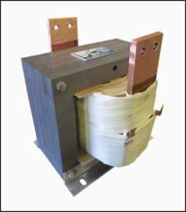 HIGH CURRENT TRANSFORMER, 6 KVA, Output: 10 VAC, 600 AMPS, P/N 18579A