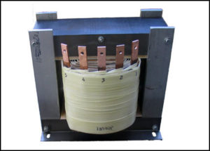 MULTIPLE TAP GAPPED INDUCTOR, 6.477 mH / 35 A to 49.43 mH / 4.2 A, P/N 18590L