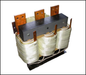 THREE PHASE HIGH CURRENT TRANSFORMER, 3.5 KVA, OUTPUT 2 VAC, 1000 AMPS, P/N 18603