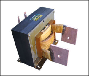 SINGLE PHASE HIGH CURRENT TRANSFORMER, 7.2 KVA, OUTPUT 6 VAC, 1200 AMPS, P/N 18605
