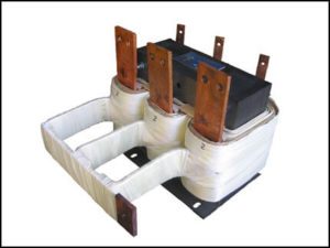 THREE PHASE HIGH CURRENT TRANSFORMER, 1.77 KVA, OUTPUT 2 VAC, 500 AMPS, P/N 18608