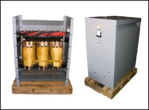 Multiple Secondary Taps Transformer, 75 KVA, Input: 480 VAC, Output: 200/208/230/460/575 VAC, P/N 18677N