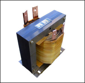 STEP DOWN TRANSFORMER, 2.4 KVA, PRIMARY 120 VAC, SECONDARY 12 VAC, P/N 18690