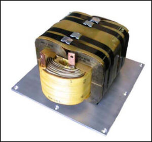 High Frequency Gap Inductor, 40 mH, 25 Amps, 16 KHz, P/N 18695LP