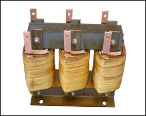 30 Amp Three Phase Gapped Inductor 0.35 mH, 30 Amps P/N 18702L