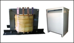 Multiple Tapped Transformer, 25 KVA, Input: 208 VAC, Output: 280/320/360 VAC, P/N 18724N