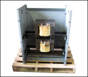 30 KVA Scott T Transformer Input: 480 VAC, 3 PH Output (Main): 208 VAC, 1 PH Output (Teaser): 208 VAC, 1 PH, P/N 18726N