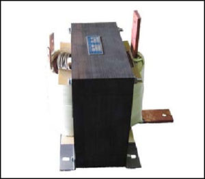 SINGLE PHASE HIGH CURRENT TRANSFORMER, 4 KVA, OUTPUT 10 VAC, 400 AMPS, P/N 18740