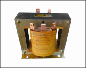 Single Phase Isolation Transformer, 2.0 KVA, 60 Hz, Primary: 480 VAC, Secondary: 236/283 VAC, P/N 18743