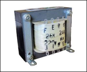 Four Secondary Winding Transformer, 115 VA Input: 240 VAC, Output: 24/26/6/220 VAC, P/N 18749