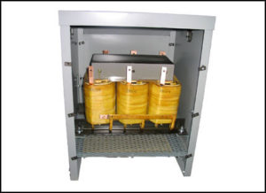 400 HZ THREE PHASE ISOLATION TRANSFORMER, 36 KVA, P/N 18752N