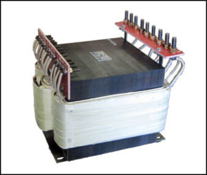 THREE PHASE MULTI TAP TRANSFORMER, 38.6 KVA, P/N 18754A