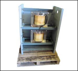 50 KVA Scott T Transformer Input: 480 VAC, 3 PH Output (Main): 240 VAC, 1 PH Output (Teaser): 240 VAC, 1 PH, P/N 18768N