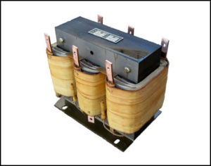 THREE PHASE BUCK TRANSFORMER, 15 KVA, INPUT 528 VAC, OUTPUT 457 VAC, P/N 18769