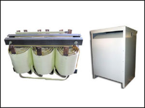 Isolation Transformer: 139 KVA, 3 PH, 60 Hz, Primary: 208 VAC, Secondary: 240/480 VAC, P/N 18781N