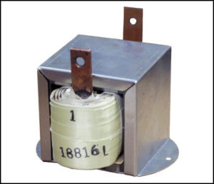 High Frequency Gapped Inductor, 1 mH, 18 Amps, 25 KHz, P/N 18816L