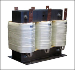 THREE PHASE BUCK TRANSFORMER, 48 KVA, INPUT 480 VAC, OUTPUT 460 VAC, P/N 18829