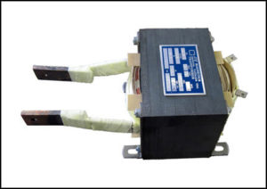 SINGLE PHASE HIGH CURRENT TRANSFORMER, 0.5 KVA, OUTPUT 2.5 VAC, 200 AMPS, P/N 18831