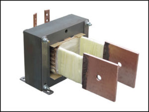 HIGH CURRENT TRANSFORMER, .6 KVA Output: 1.1547 VAC, 500 AMPS, P/N 18833