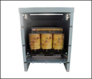 Primary Multiple Tap Transformer, 12 KVA, Input: 380/480/575 VAC, Output: 208 VAC, P/N 18852N