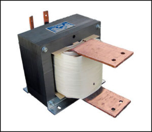 SINGLE PHASE HIGH CURRENT TRANSFORMER, 4.5 KVA, OUTPUT 4.052 VAC, 1110 AMPS, P/N 18860