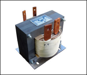 SINGLE PHASE HIGH CURRENT TRANSFORMER, 1.875 KVA, OUTPUT 7.5 VAC, 250 AMPS, P/N 18861
