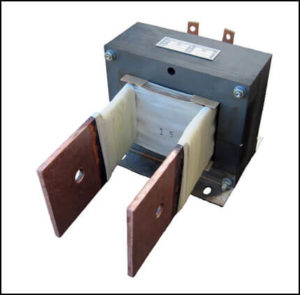 SINGLE PHASE HIGH CURRENT TRANSFORMER, 1.5 KVA, OUTPUT 1.5 VAC, 1000 AMPS, P/N 18862