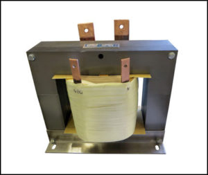 SINGLE PHASE HIGH CURRENT TRANSFORMER, 4 KVA, OUTPUT 8 VAC, 500 AMPS, P/N 18866