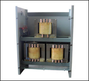 HEATING ELEMENT TRANSFORMER, THREE SINGLE PHASE TRANSFORMERS INSIDE ONE ENCLOSURE, P/N 18877N