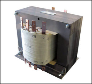 Multi Winding Isolation Transformer, 10.6 KVA, 1 PH, 60 Hz Input: 480 VAC Output: 118/126/185/226 VAC, P/N 18877T1