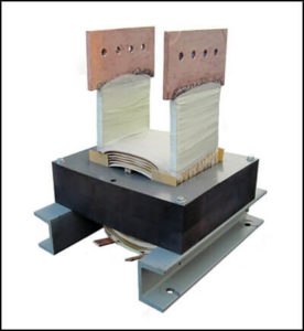 VERTICAL BUS BAR TRANSFORMER, 4.32 KVA, Output: 1.2 VAC, 3600 Amps P/N 18878