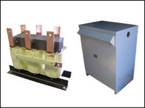 THREE PHASE BOOST TRANSFORMER, 110 KVA, INPUT 200 VAC, OUTPUT 208 VAC, WITH NEMA 3R ENCLOSURE, P/N 18883N