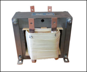 SINGLE PHASE HIGH CURRENT TRANSFORMER, 1.8 KVA, OUTPUT 15 VAC, 120 AMPS, P/N 18884A